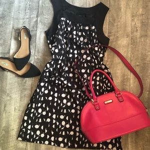 Mossimo black and white polka dot stunner!